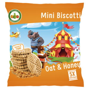 Appy Kids Co Oat and Honey Mini Biscotti 5x20g Pack