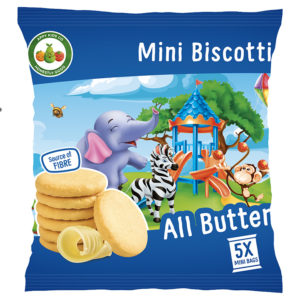 Appy Kids Co All Butter Mini Biscotti 5x20g Pack